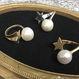 shooting star ring / pearl