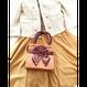 持ち手が編み目のLovelyなサテンのサブバッグ♡NBCS-100