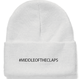 #MIDLLE OF THE CLAPS KNIT CAP(WHITE)