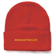 #MIDLLE OF THE CLAPS KNIT CAP (RED)