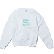 back snap pullover  white/green
