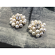 freshwaterpearl flower earring