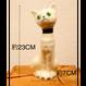 キャンドル 白猫(緑の目)
