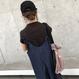 大人気シリーズ新カラー!肩紐リボンゆったりデニムキャミオールインワン(2color)【クリックポスト対象商品】