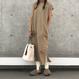 裾スリットリブレギンス(3color)【クリックポスト対象商品】