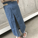 ヴィンテージ風ロゴ腰巻デニムエプロン【クリックポスト対象商品】