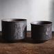 Roughness black Wide cylinder pot(M)
