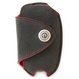 DAMD Premium Suede Key Case for SUBARU -Ultra Suede × Red Stitch-