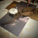 160226 時計の文字盤と懐中時計のバレッタno.12/スチームパンク