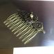 160716 金古美色の歯車と時計の針のヘアコーム