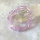 【愛の石】マダガスカル産ラベンダーアメジスト☆スクエアカットのブレスレット