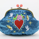 Love and Peace (BL) Make-up pouch velour [DW2-2009]