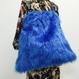 Blue JAZZ|shoulder kinchaku fur bag [DW19-232]