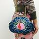 Peacock METAL (BL)|Make-up pouch [DW2-3006]