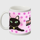 黒猫PUKU マグカップ01
