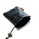 HT-G187004 / LEATHER PURSE - BLACK