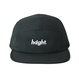 HT-W186004 / ROUND LOGO CAMP CAP - BLACK