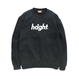 HT-W173001 / ROUND LOGO CREW SWEAT - BLACK