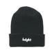 HT-W176001 / ROUND LOGO KNIT CAP - BLACK