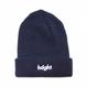 HT-W176001 / ROUND LOGO KNIT CAP - NAVY