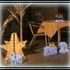 LED イルミネーション 星 ディスプレイ 飾り 照明 ライティング クリスマス 3Dスター【L3D904】CR-86