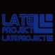 【残り5枚】カッティングステッカー【LATEproject定番ロゴ】ブルー・2種類セット