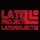 カッティングステッカー【LATEproject定番ロゴ】レッド・2種類セット