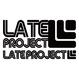 カッティングステッカー【LATEproject定番ロゴ】ブラック・2種類セット