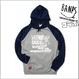 【残り3着】DVDリリース記念『BANPSコラボ・ポケットファスナー付きパーカー』ネイビーグレイ×ホワイト【限定7着】