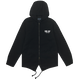 """BELIEF"" CITY BLOCK FISHTAIL JACKET (BLACK)"
