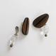 Wood line pierce/earring