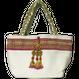 ヴィンテージ刺繍のタッセル付トートバッグ  white 2