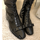 lace up ribbon boots