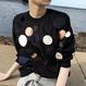 【EruMon】サークルデザインニット セーター プルオーバー