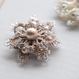 Snow flower(GOLD)ブローチ