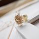 Snow flower(ゴールドベージュ) ピアスorイヤリング、ハットピン2点セット