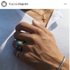 FLEX×SORA  original  collabo  turquoise ring
