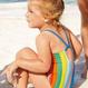 スイムスーツ(3歳~12歳)ストライプ/ブルーフローラル