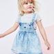 サスペンダー付きスカート(2~6歳)