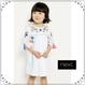 刺繍 タッセル付きワンピース (3か月~6歳)  ホワイト