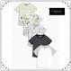 Tシャツ 5  枚セット  (3~24か月) モノトーンモンスター