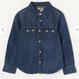 【Lee Kids】WESTERN SHIRTS( Dark Used)/ウエスタンシャツ(濃色ブルー)