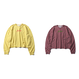 forte BORDER L/S T-shirts Super Wide Silhouette(Yellow/Wine)