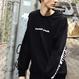 Band-Crewneck Sweater – Black/White