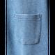 メンズインディゴワッフルVネックTシャツ