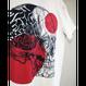 【プリント】赤い骸骨_ホワイトTシャツ