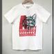 【プリント】Argh!なんてこったな猫_ホワイトTシャツ