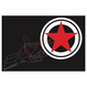 【機械刺繍】 M02_Shooting・・コットンマガジンバッグ・黒