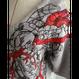 【手刺繍】impress(心臓を掴む)・ラグランスリーブTシャツ・裏毛ニット