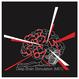【機械刺繍】 M01_Deepbrain・・コットンマガジンバッグ  黒